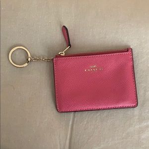 Coach pink skinny wallet